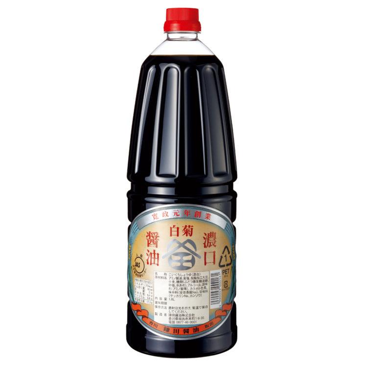 白菊こいくち醤油 1.8ℓ手付