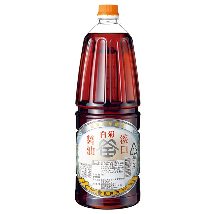 白菊うすくち醤油 1.8ℓ手付